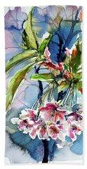 Beach Sheet featuring the painting Spring Flower by Kovacs Anna Brigitta