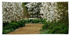 Spring Flowering Trees Wall Art Beach Sheet