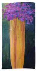 Beach Towel featuring the painting Spring Flowers by Nancy Jolley