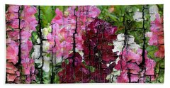 Beach Towel featuring the painting Spring Garden H131716 by Mas Art Studio