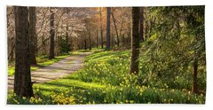 Spring Garden Path Beach Towel