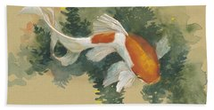 Spring Goldfish I Beach Sheet by Tracie Thompson