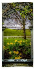Beach Towel featuring the photograph  Spring In Ballynacally, County Clare by James Truett