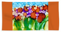 Beach Sheet featuring the painting Spring In Charleston by Yolanda Koh