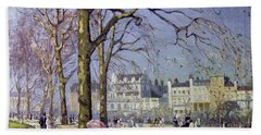 Spring In Hyde Park Beach Sheet by Alice Taite Fanner