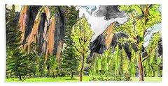 Spring In Yosemite Beach Towel