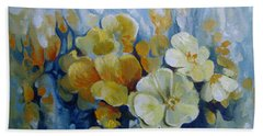 Beach Towel featuring the painting Spring Inflorescence by Elena Oleniuc
