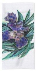 Spring Iris Bloom Beach Towel by Clyde J Kell