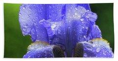 Spring Iris Beach Towel