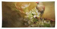 Beach Sheet featuring the photograph Spring Is In The Air by Linda Blair