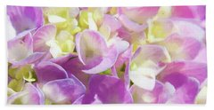 Beach Towel featuring the photograph Spring Lavender Hydrangea Painterly 1 by Andee Design