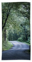 Beach Towel featuring the photograph Spring Light On A Forest Road by Parker Cunningham
