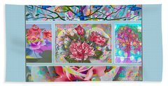 Beach Towel featuring the digital art Spring Medley by Eleni Mac Synodinos