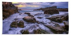 Spring Morn At Bald Head Cliff Beach Sheet by Rick Berk