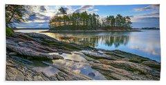Spring Morning At Wolfe's Neck Woods Beach Sheet by Rick Berk