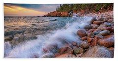 Spring Morning In Acadia National Park Beach Sheet by Rick Berk