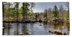 Beach Towel featuring the photograph Spring Near Moose River Road by David Patterson