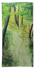 Spring Path Beach Towel
