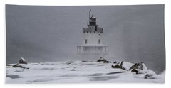 Spring Point Ledge Lighthouse Blizzard Beach Sheet