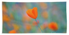 Spring Poppy Beach Towel