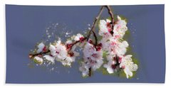 Spring Promise - Apricot Blossom Branch Beach Sheet