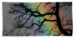 Spring Rainbow Beach Sheet by Cathie Douglas
