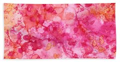 Beach Towel featuring the painting Spring Rose Abstract by Patricia Lintner