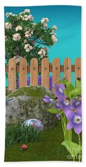 Beach Towel featuring the digital art Spring Scene by Mary Machare