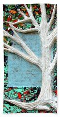 Beach Towel featuring the painting Spring Serenade With Tree by Genevieve Esson