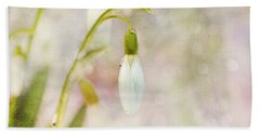 Spring Snowdrops And Bokeh Beach Towel