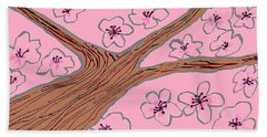 Spring Stained Glass 3 Beach Towel