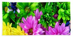 Beach Towel featuring the painting Spring Still Life Floral 721 by Mas Art Studio