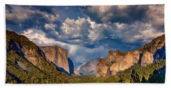 Spring Storm Over Yosemite Beach Towel