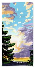 Spring Sunrise 01 Beach Towel