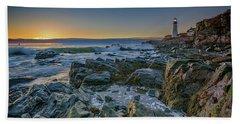 Spring Sunrise At Portland Head Beach Sheet by Rick Berk