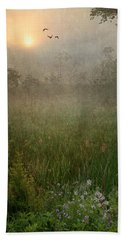Spring Sunrise In The Valley Beach Towel