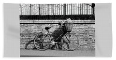 Beach Towel featuring the photograph Spring Sunshine And Shadows In Black And White by Gill Billington