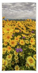 Spring Super Bloom Beach Sheet by Peter Tellone