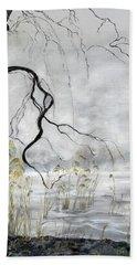 Spring Thaw On Misty Grenadier Pond Beach Towel