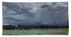 Spring Thunderstorm At Yellowstone Beach Towel