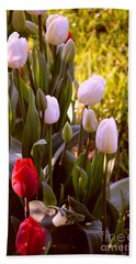 Beach Towel featuring the photograph Spring Time Tulips by Susanne Van Hulst