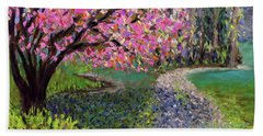 Spring Tree At New Pond Farm Beach Towel