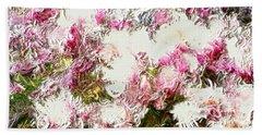 Spring Tulip Tree Beach Sheet