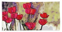 Spring Tulips Beach Sheet