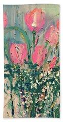 Spring Tulips Beach Sheet