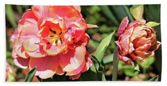 Spring Tulips Beach Towel by Trina Ansel