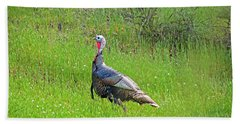 Spring Turkey Gobbler Beach Sheet