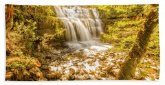 Spring Waterfall Beach Towel