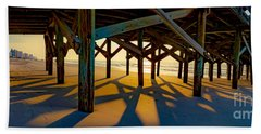 Springmaid Pier At Sunrise Beach Towel