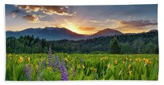 Spring's Delight Beach Towel by Leland D Howard